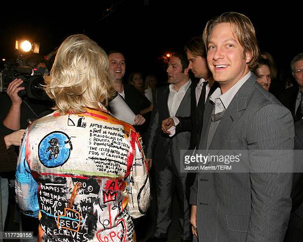 Candy Spelling and Randy Spelling during Sons of Hollywood Premiere Party at Les Deux Hollywood in Hollywood California United States