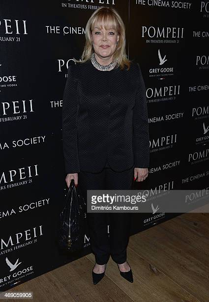 Candy Spelling attends the TriStar Pictures with The Cinema Society Grey Goose screening of Pompeii at Crosby Street Hotel on February 12 2014 in New...