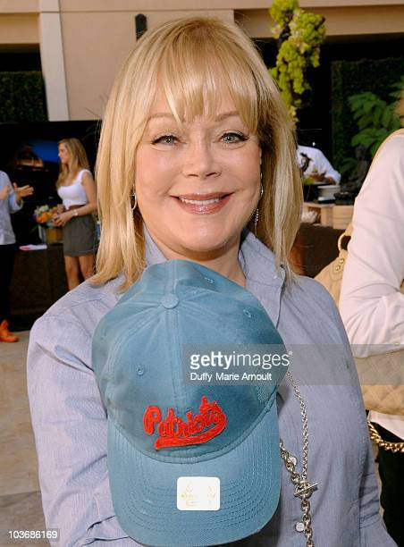 Candy Spelling poses at Retro Sport booth during Kari Feinstein Primetime Emmy Awards Style Lounge Day 2 held at Montage Beverly Hills hotel on...