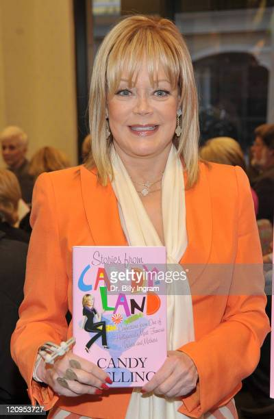 Candy Spelling poses with her new book at the Stories From Candyland Discussion and Book Signing at Barnes Noble on April 14 2009 in Los Angeles...