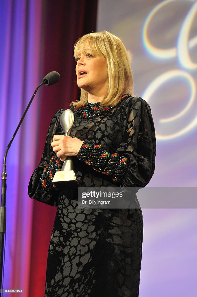 Candy Spelling receives an award at the 35th Annual Gracie Awards Gala at The Beverly Hilton hotel on May 25, 2010 in Beverly Hills, California.
