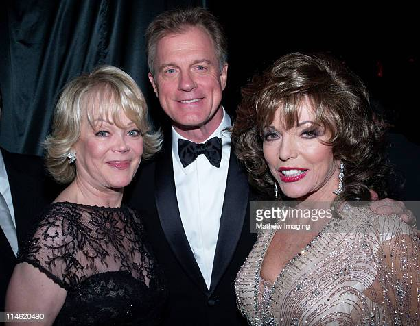Candy Spelling Stephen Collins and Joan Collins during 58th Annual Primetime Emmy Awards Governors Ball at The Shrine Auditorium in Los Angeles...
