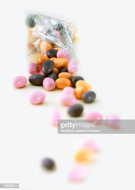 Candy spilling out of bag