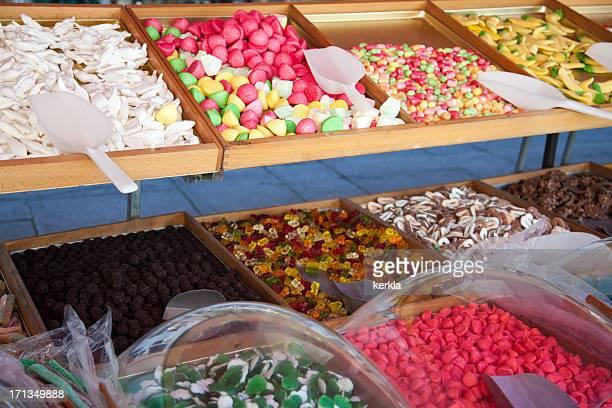 Candy individual en un mercado