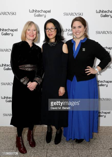 Candy Stobbs Lydia Yee and Wells FraySmith attend a glamorous gala dinner at Whitechapel Gallery as Rachel Whiteread is celebrated as the recipient...