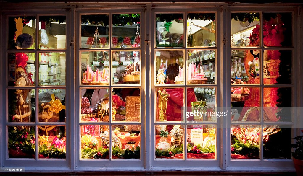 Candy store window : Stock Photo