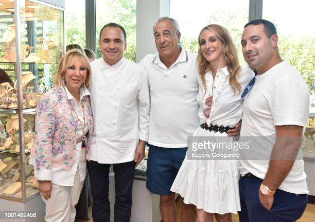 Candy Udell Jean Georges Mark Udell Randi Udell and Scott Udell attend the Hamptons Magazine London Jewelers Host A Luxury Shopping Afternoon at...