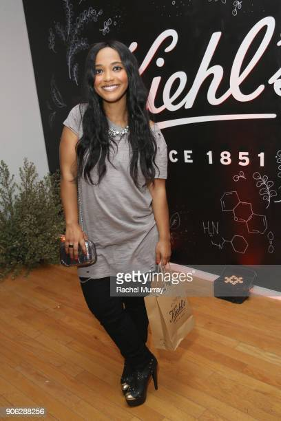 Candy Washington at Kiehl's Turns Up the PotentC with the NEW PowerfulStrength LineReducing Concentrate on January 17 2018 in West Hollywood...