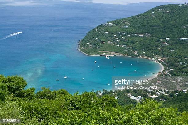 cane garden bay, tortola, british virgin islands - cane garden bay stock pictures, royalty-free photos & images
