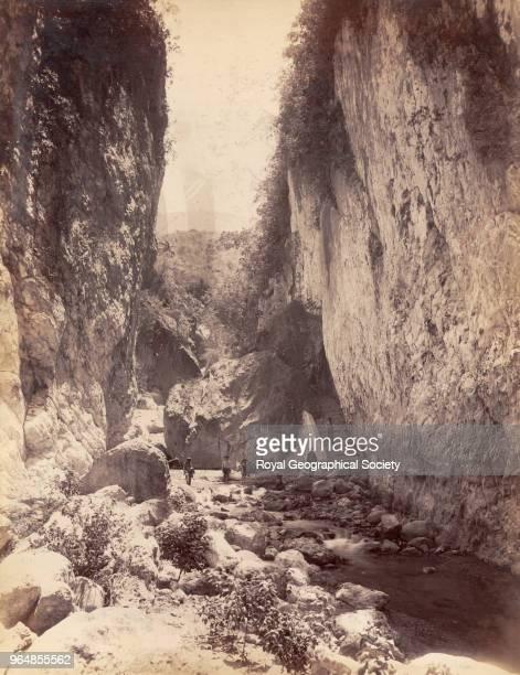 Cane river gorge in Saint David, Trinidad and Tobago, 1891.