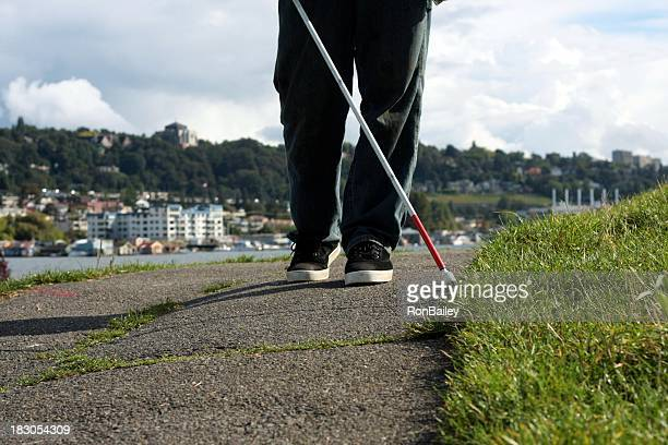 Cane User In Seattle
