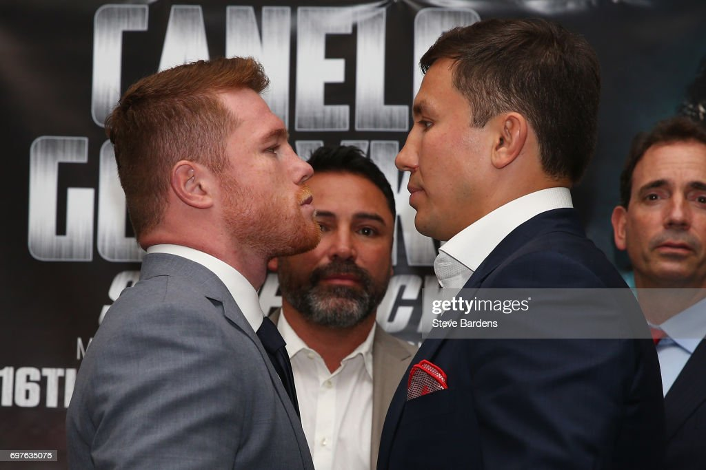 Boxing Press Conference with Canelo Alvarez and Gennady Golovkin : News Photo