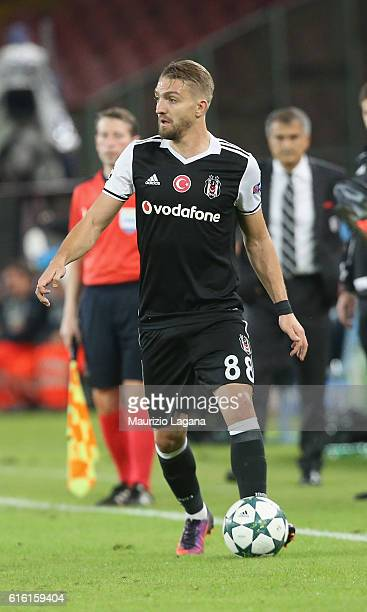 Caner Erkin of Besiktas during the UEFA Champions League match between SSC Napoli and Besiktas JK at Stadio San Paolo on October 19 2016 in Naples