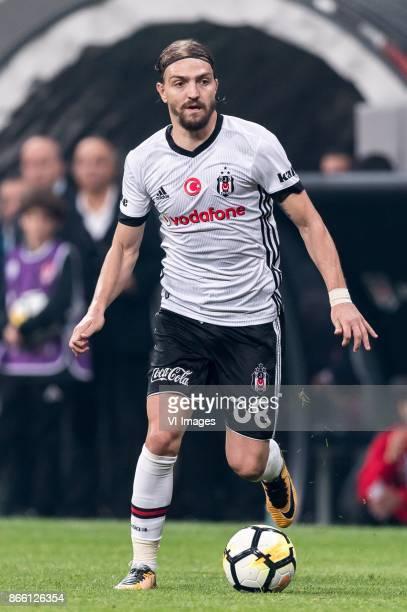 Caner Erkin of Besiktas JK during the Turkish Spor Toto Super Lig football match between Besiktas JK and Medipol Basaksehir FK on October 23 2017 at...