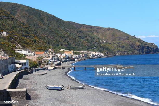 Canetto village in Lipari. Aeolian islands, Italy.