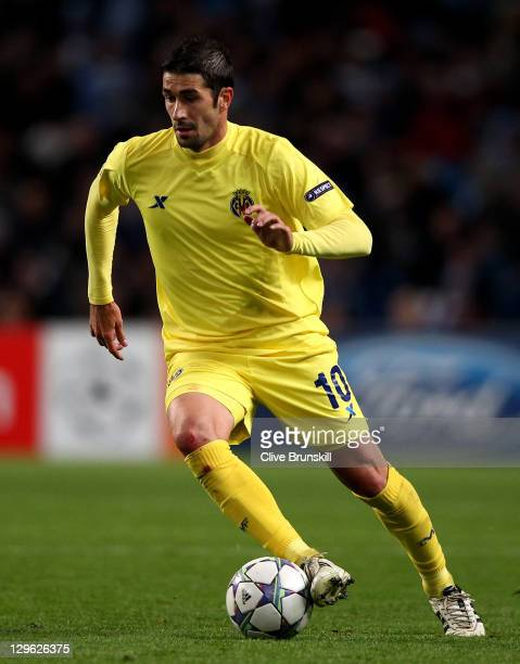 Cani of Villareal in action during the UEFA Champions League Group A match between Manchester City and Villareal CF at the Etihad Stadium on October...