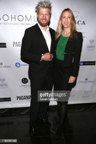 Canillo Stepanek and Silvia Frieser attend PAGANINI HONORS PAGANINI A Tribute To Niccolo Paganini By Maria Elena Paganini on October 28 2019 in New...