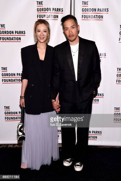 Canis Chow and fashion designer DaoYi Chow attend the 2017 Gordon Parks Foundation Awards Gala at Cipriani 42nd Street on June 6 2017 in New York City