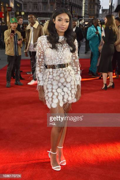 Canjelae Taylor attends the World Premiere of 'The Intent 2 The Come Up' at Cineworld Leicester Square on September 19 2018 in London England