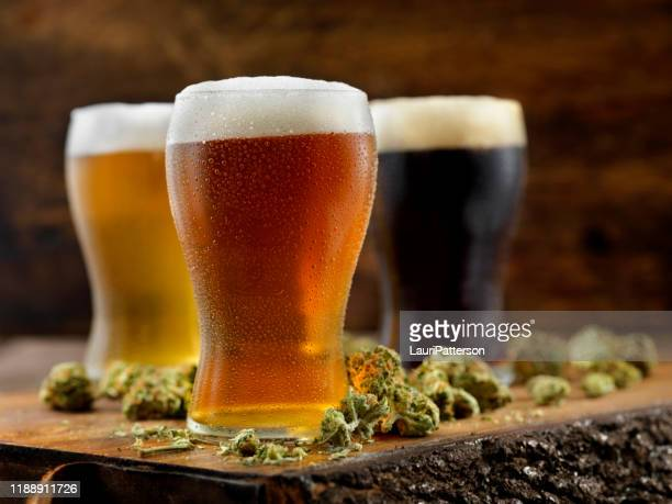 cannabis infused beers - help:ipa stock pictures, royalty-free photos & images