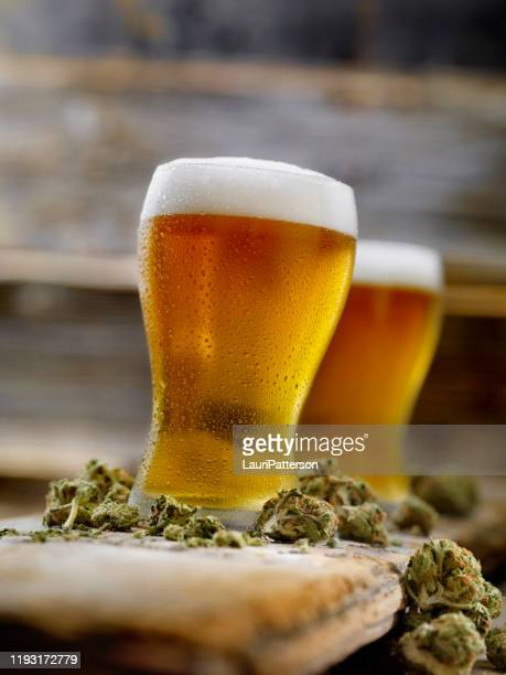 cannabis infused pale ale - help:ipa stock pictures, royalty-free photos & images