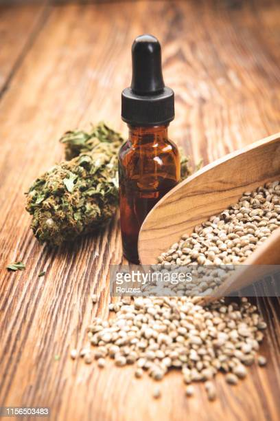 cannabis oil - hemp seed stock photos and pictures