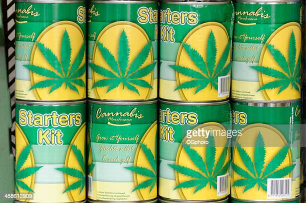 cannabis starter kit to grow your own marijuana - ogphoto stock photos and pictures