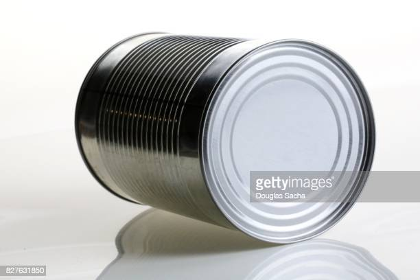 Canned food on a white background