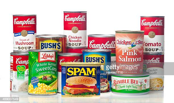 canned foods - canned food stock pictures, royalty-free photos & images