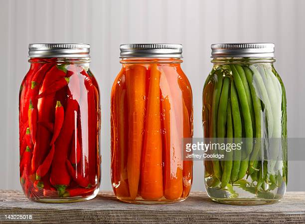 canned vegetables 2 - pickled stock pictures, royalty-free photos & images