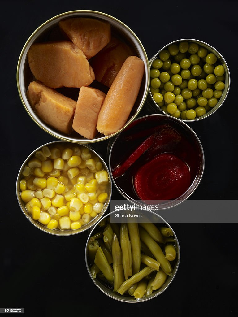 Canned Vegtables : Stock Photo