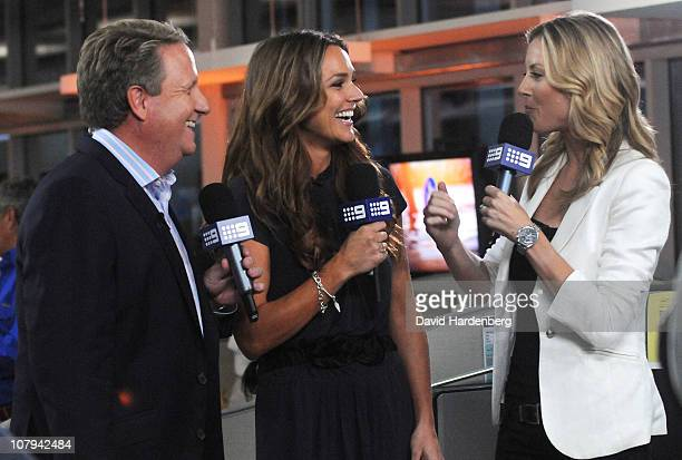 Cannel Nine new presenters Ian Healy Natalie Gruzlewski and Allison Langdon at the Channel Nine And Daily Telegraph telethon appeal for Queensland...