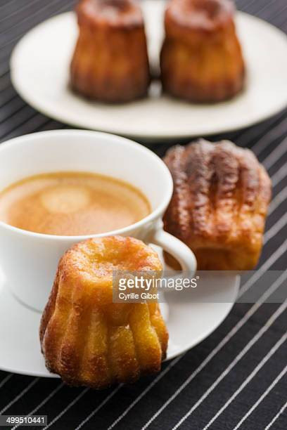 Canneles and coffee