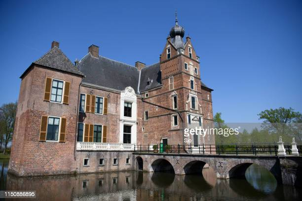 Cannenburg Castle, Kasteel De Cannenburgh, during a beautiful springtime day in Vaassen,  Gelderland, The Netherlands