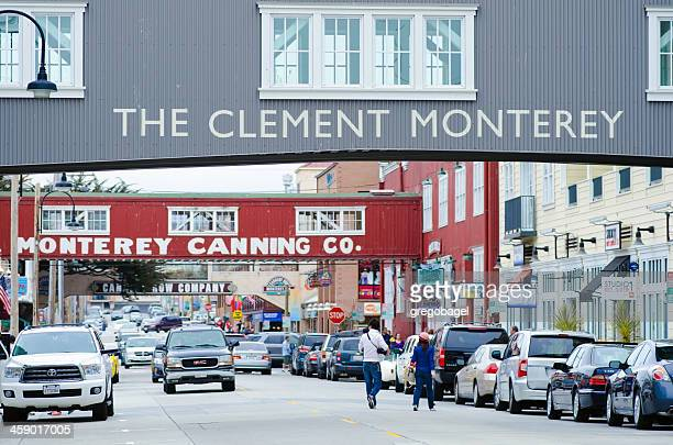 cannery row in monterey, ca - city of monterey california stock pictures, royalty-free photos & images