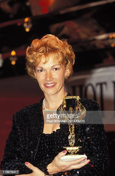 Cannes 92 Awards of Hot D'Or In Cannes France On May 12 1992Brigitte Lahaie Hot d'Or of honor