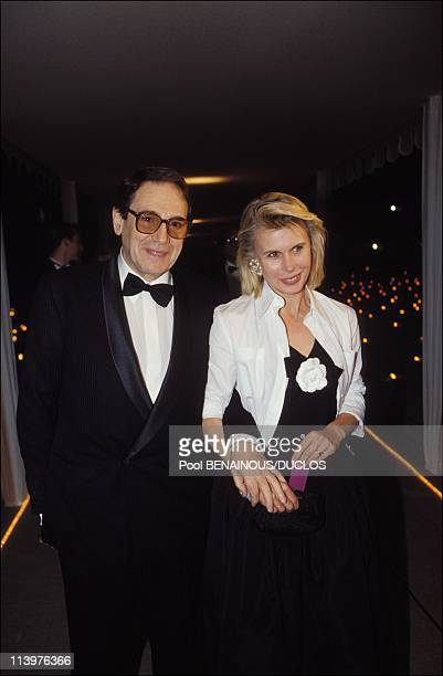 Cannes 92 Opening night in Cannes France on May 07 1992Robert Hossein wife Candice Patou
