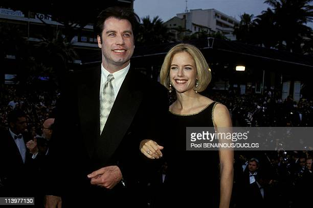 Cannes 94 Closing Ceremony in Cannes France on May 23 1994John Travolta and his wife actress Kely Preston John Travolta and his wife actress Kelly...