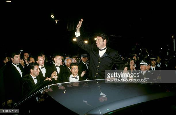 Cannes 94 Strairs of Film 'PULP FICTION' in Cannes France on May 20 1994John Travolta