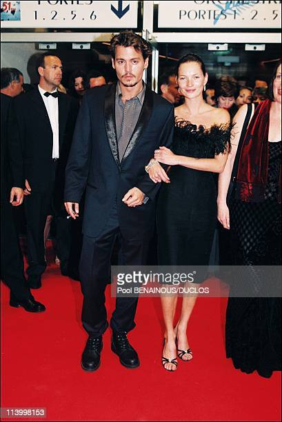 Cannes 98 The Strairs of Fear And Loathing In Las Vegas In Cannes France On May 15 1998Johnny Depp and Kate Moss
