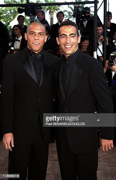 Cannes 99 Stairs 'Le Voyage De Felicia In Cannes France In May 1999Soccer Players Ronaldo and Youri Djorkaeff
