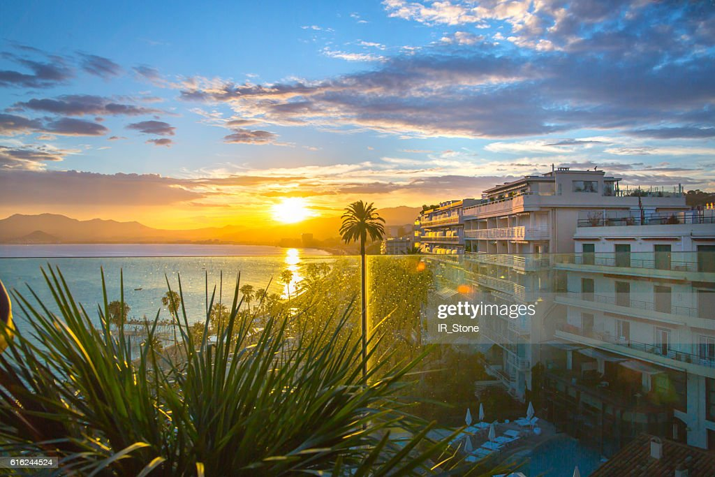 Cannes at sunset. France : Stock-Foto