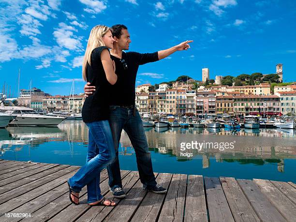 Cannes fashionable couple discover the city