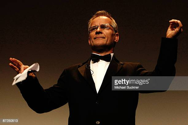 Cannes Festival Director Thierry Fremaux appears on stage during the ITV Global Entertainment The Film Foundations World Premiere of The Restoration...