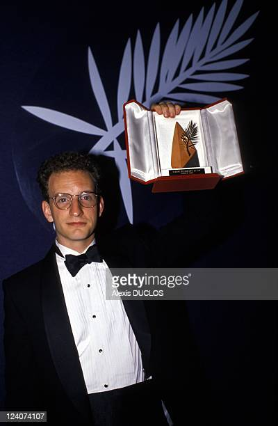 Cannes Festival in Cannes France on May 23 1989 Director Steven Soderbergh won the Golden Palm for ' Sex lies and video'