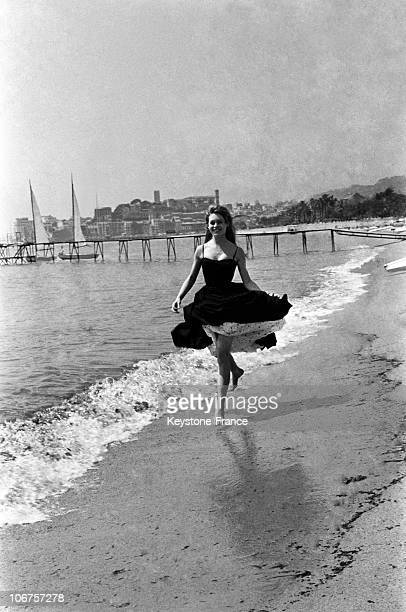 Cannes Festival The Young Actress Brigitte Bardot In May 1956