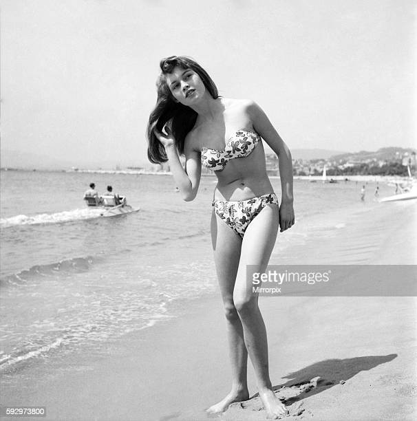 Cannes Film Festival 1953 French actress Brigitte Bardot seen here making her first appearance at the Festival D3118048