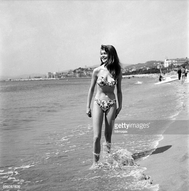 Cannes Film Festival 1953 French actress Brigitte Bardot seen here making her first appearance at the Festival D3118049