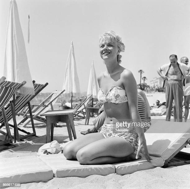 Cannes Film Festival 1958 picture shows Simone Hersant french model Friday 9th May 1958