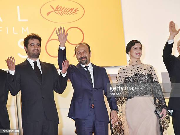 Cannes Film Festival 2016 Best actor awarded Shahab Hosseini director Asghar Farhadi and actress Taraneh Alidoosti attend 'The Salesman ' Premiere...